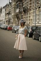 H&M Trend skirt - Maison Michel hat - Ivanka Trump heels - Ivyrevel t-shirt