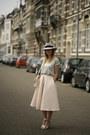 Maison-michel-hat-ivanka-trump-heels-h-m-trend-skirt-ivyrevel-t-shirt