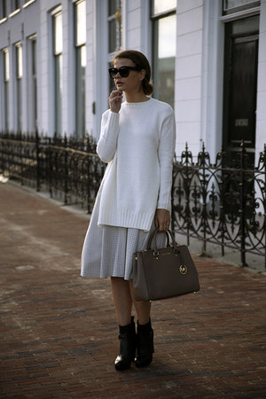 Michael Kors bag - G-Star boots - Zara sweater - Celine sunglasses