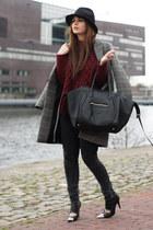 VJ-style bag - Nowhere shoes - Zara coat - Zara sweater