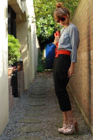 Miu Miu shoes - Comme des Garcons pants - H&M blouse