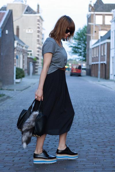 Prada shoes - H&M skirt