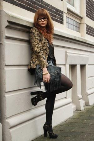 H&M jacket - Topshop sandals - Michal Aidan bracelet