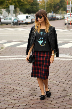plaid Zara skirt