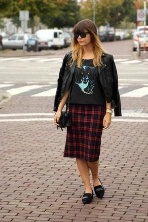 plaid Zara skirt