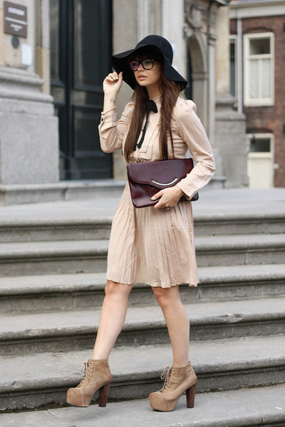 fashionzenvintage bag - JC Lita shoes - VJ-style dress - H&M hat