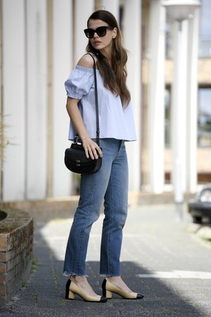 Chanel shoes - Levis jeans - Chloe bag - Celine sunglasses
