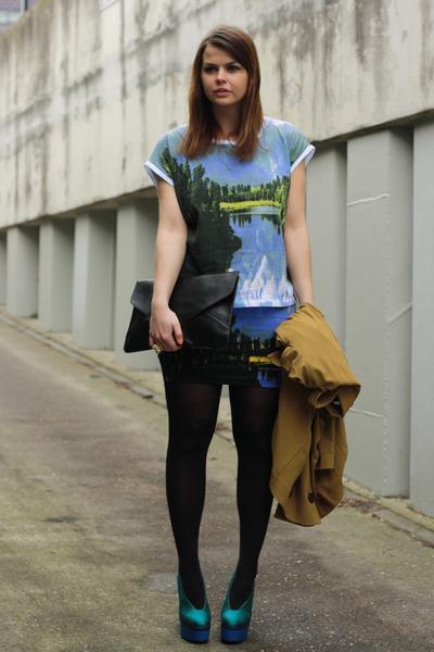 Motel shirt - Beginningboutique bag - Motel skirt - acne pumps