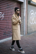 Frontrowshop coat - asos jeans - Rick Owens hat - Ivyrevel sweater