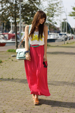 H&M top - Dressrepublic bag - Zara skirt