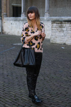 leopard print Topshop sweater - shopper Celine bag