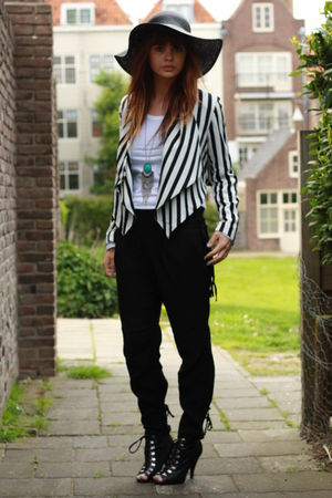 H&M blazer - Topshop pants - H&M shoes