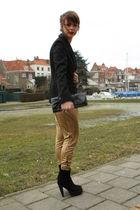 H&M pants - Zara boots - H&M blazer - Primark purse