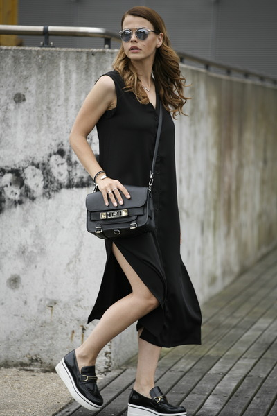 Stella McCartney shoes - Front Row Shop dress - PROENZA SCHOULER bag