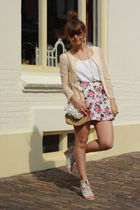 H&M skirt - scarletroom cardigan - vintage purse