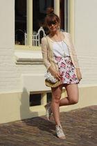 H&M skirt - scarletroom cardigan - vintage purse