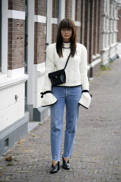 JW Anderson sweater - Celine shoes - Vetements jeans