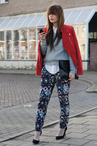 Ibana Rouge jacket - Beginningboutique purse - Zara pants