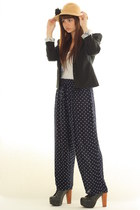 navy fashionzenvintage pants