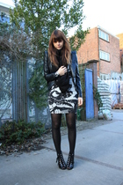 H&M dress - H&M shoes - SuperTrash jacket