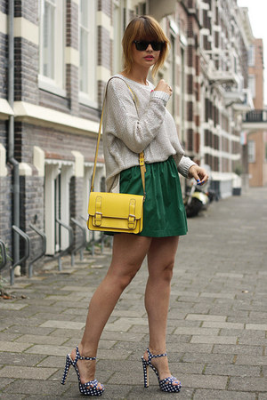Zara skirt - romwe bag - Miu Miu sandals