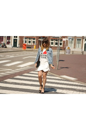 jacket - Choies top - Zara skirt