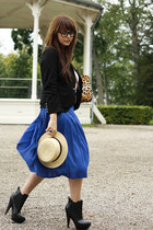 fashionzenvintage skirt - asos boots - fashionzenvintage blazer - Coverbee bag
