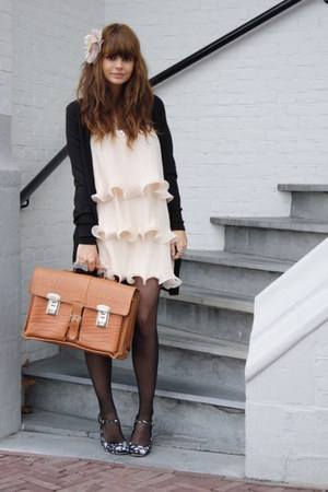 vintage bag - Miu Miu shoes - H&M dress