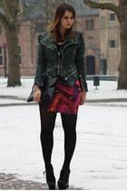 Motel skirt - Burberry shoes - Beginningboutique bag
