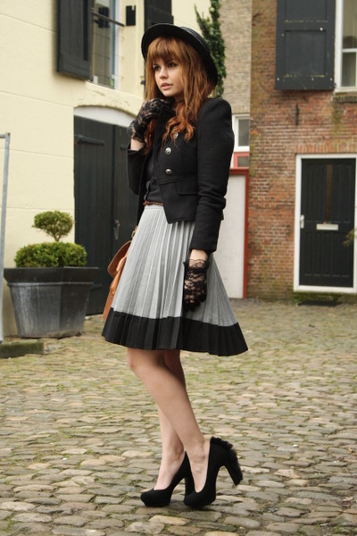H&M skirt - YSL shoes