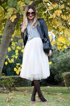 H&M skirt - Zara jacket - Zara bag - Zara heels