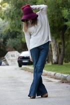 H&M jeans - H&M hat - H&M sweater