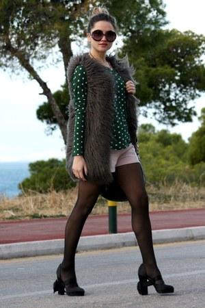 Zara shorts - Zara vest - Zara blouse - Chanel heels