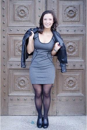 black Marc Jacobs jacket - heather gray Express dress