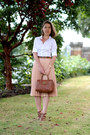 White-hawes-curtis-shirt-brown-mulberry-bag
