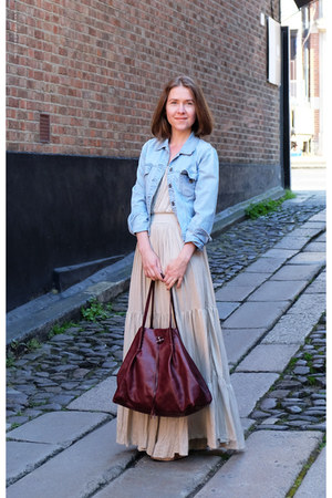 denim jacket Mango jacket - maxi dress Dress Gallery dress