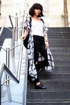 black asos shoes - black H&M jeans - white H&M vest