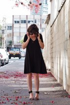 black Zara dress - black Michael Kors sandals