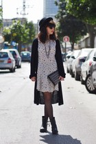 off white pull&bear dress - black H&M hat