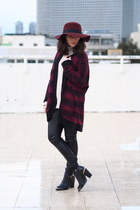 cream Mango sweater - maroon Forever 21 sweater - maroon Forever 21 hat