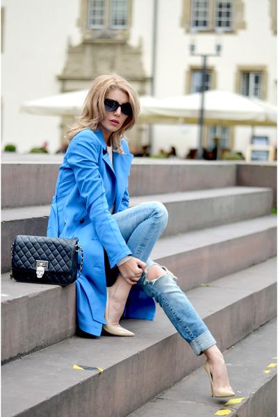 MARC CAIN coat - Jimmy Choo shoes - philipp plein bag - Chanel sunglasses