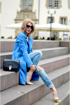 MARC CAIN coat - Jimmy Choo shoes - philipp plein bag - Chanel sunglasses