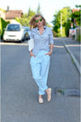 Nude-tods-shoes-light-blue-marc-cain-shirt-white-marc-cain-bag