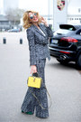 Blue-max-mara-blazer-yellow-dolce-gabbana-bag-charcoal-gray-celine-glasses