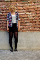 vintage blouse - H&M skirt - Bag MNGO accessories