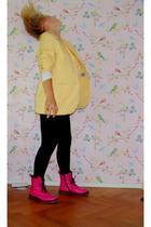 vintage blazer - Vero Moda leggings - Zipper boots