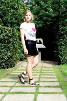 H&M skirt - Zara t-shirt - H&M shoes