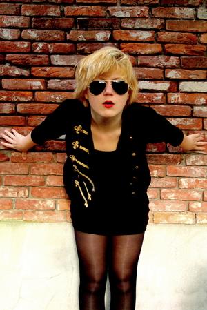 black H&M jacket - black Vero Moda dress