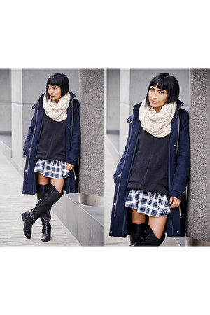 navy Camote Soup sweater - navy Camote Soup skirt