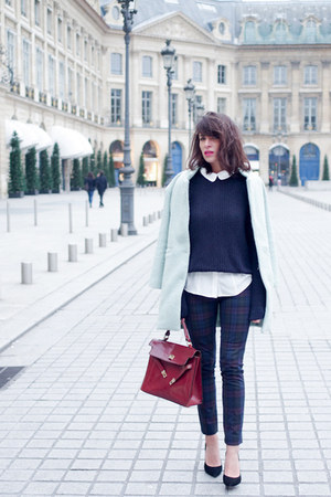 Sheinsidecom coat - Claudie Pierlot shirt - American Apparel jumper - Zara pants